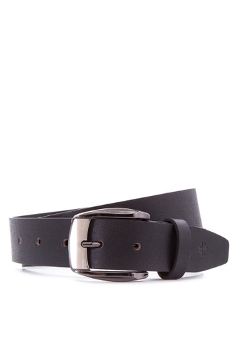 Burlington black Genuine Leather Belt BU456AC54UDDPH_1