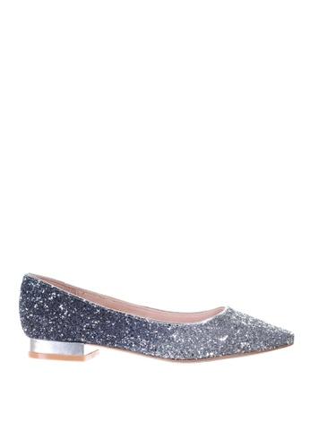 PRODUIT PARFAIT blue Glitter Pointed Toe Ballerina FD440SH83546D4GS_1