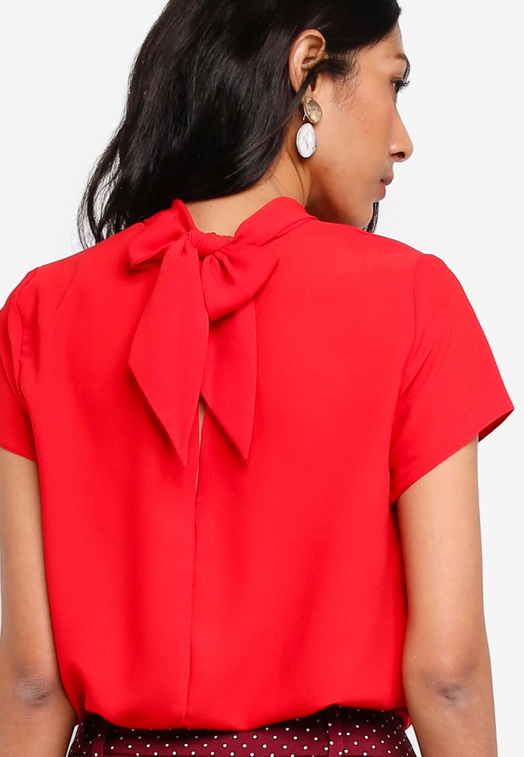 Back Dorothy Perkins Top Turn Red Red CCBzwq