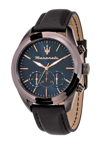 Maserati brown Maserati Traguardo Brown Leather Quartz Chronograph Watches R8871612008 8B92CAC4081DA3GS_1