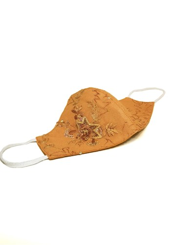 Devain Kapoor brown 3-Ply Hand Embroidered Mask 1EE85ESF935E44GS_1