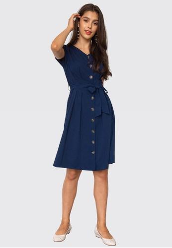 L'zzie blue LZZIE DEBBY DRESS - BLUE 387ADAAD5D69BFGS_1
