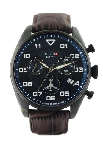 Buler brown and blue Buler Sport Watch - Blue - Gents - Date- 6H BU689AC2VG1SHK_1