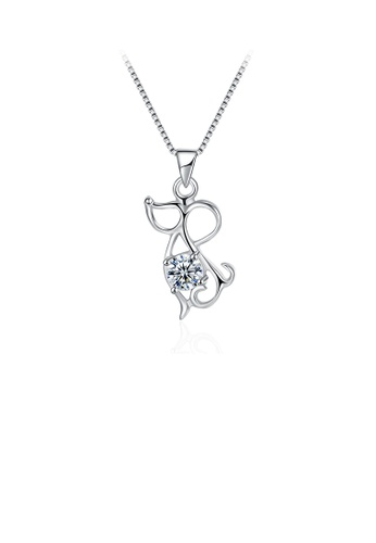 Glamorousky white 925 Sterling Silver Fashion Cute Chinese Zodiac - Mice Pendant Necklace with Cubic Zircon B73DEAC1207EEDGS_1