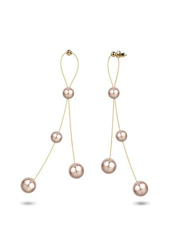 Bullion Gold gold BULLION GOLD Champagne Beads Gold Layered Dangle Earrings 4D707ACDE2F30FGS_1
