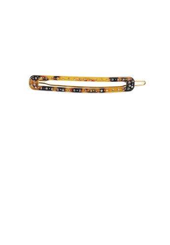 Glamorousky white Fashion Simple Leopard Geometric Strip Hair Clip with Cubic Zirconia E5D45AC041735BGS_1