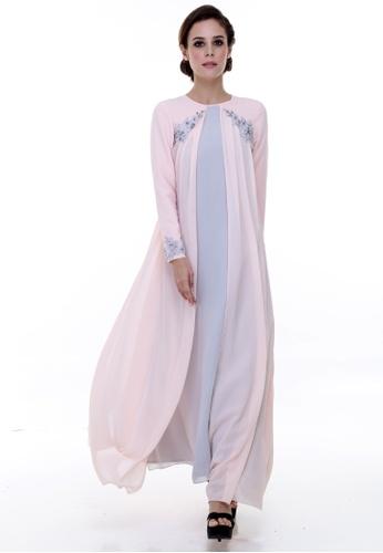 133a507232c Rina Nichie Couture pink Cassandra Abaya Modern RI590AA42CCJMY 1