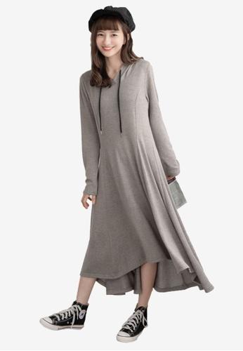 bd79bd05089c5 Long Sleeve Hoodie Maxi Dress