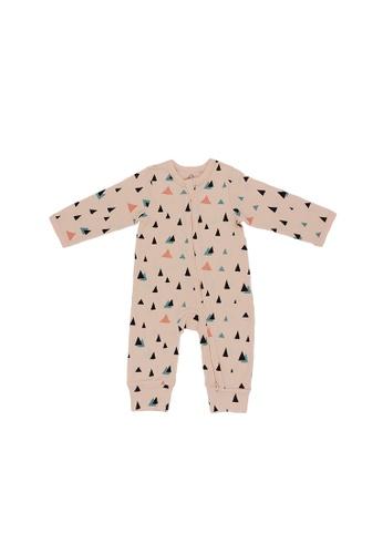 Baby Lovett pink Triangular Fun Two-Way Zipper Suit 6503FKAFEA8833GS_1