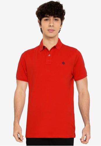 Springfield red Slim Fit Pique Polo Shirt 1D03BAA8EDE652GS_1