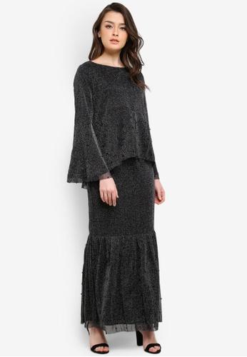 Zalia black Embellished Top With Mermaid Skirt F157DZZE8D37F4GS_1