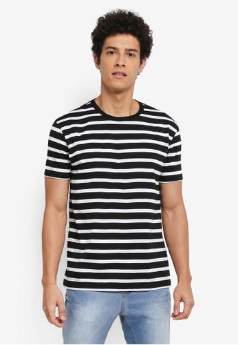 Penshoppe black Striped T-Shirt 29F63AAA83BFDCGS_1