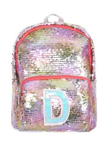 Adkidz multi ADKIDZ Reversible Sequin Backpack with Initial D F2724KCDE7DE70GS_1