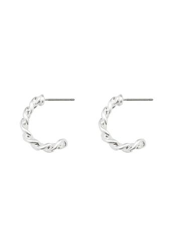 SKEDA silver Petite Chain Hoop Earrings EB604ACA9CA754GS_1