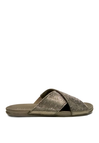 Kenneth Cole New York silver SLIM JAM - Slide Sandals KE615SH50ACZMY_1