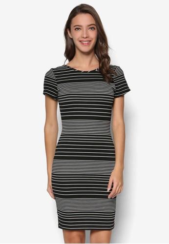 Lindsey 條紋連身裙,esprit outlet 台中 服飾, 洋裝