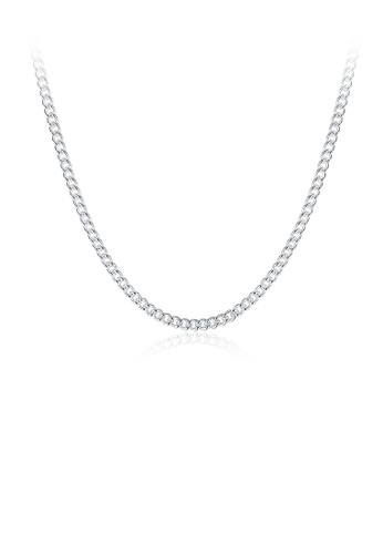 Glamorousky silver Fashion Simple 2MM Sideways Necklace 45cm F717CAC731F5CDGS_1