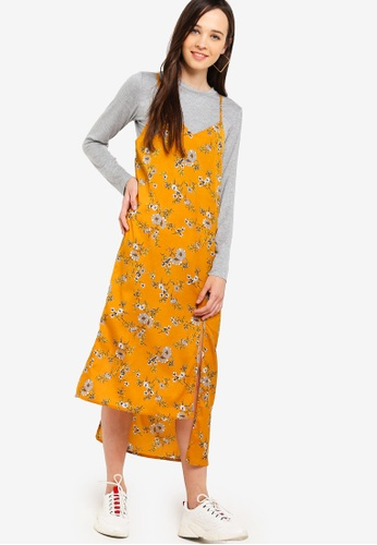 Something Borrowed yellow 2-In-1 Camisole Dress 979AFAA5FF0E61GS_1