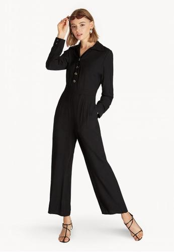268aacf81509 Buy Pomelo Long Sleeves Button Up Jumpsuit - Black Online on ZALORA ...