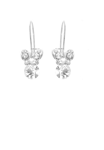 Glamorousky silver Mini Butterfly Earrings with Silver Austrian Element Crystals F6427AC70FD3AFGS_1
