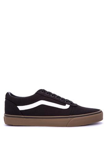 VANS black Canvas Ward Sneakers 637DCSHF238B67GS_1
