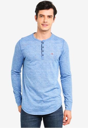 8f2a02704e1 Buy Hollister Long Sleeve Jersey Henley Tee Online on ZALORA Singapore