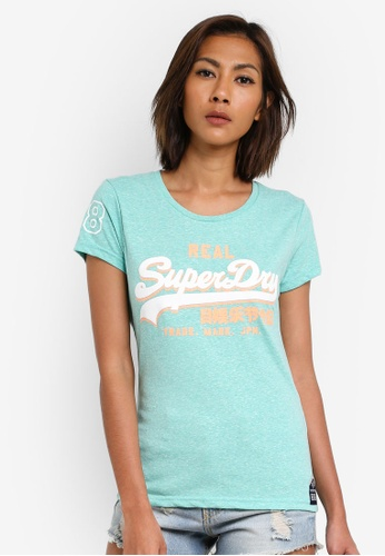 Superdry green Premium Goods Tri Entry Tee SU137AA0SI2FMY_1