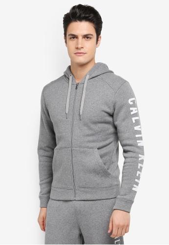 Calvin Klein grey Hood Jacket - Calvin Klein Performance BB473AA9A12AB5GS_1