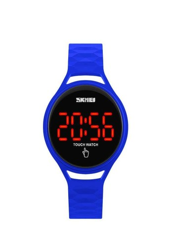 Skmei blue Jam Tangan LED Touch Wanita Layar Sentuh Waterproof 30m Silicon Lentur AL88 ORIGINAL 8090FAC3CCB651GS_1