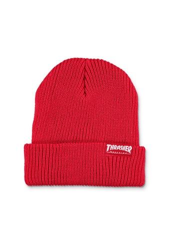 Thrasher red Thrasher Skategoat Zoom Beanie Red B3D6BAC1046DB9GS_1