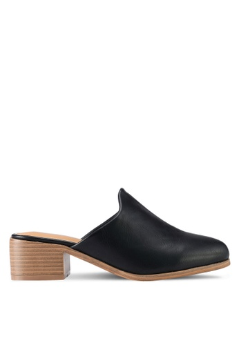 Something Borrowed black Slip-On Mules 6D026SH8BF0563GS_1