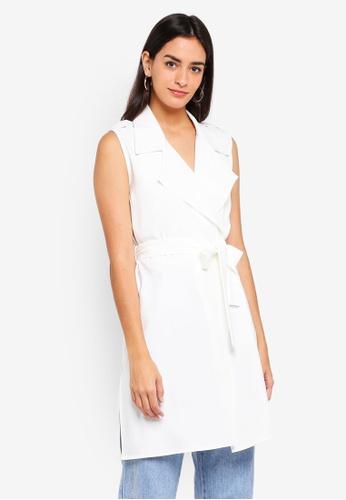 ZALORA white Long Waistcoat BC1F7AA6ADC863GS_1