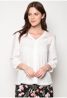 Lace Shoulder Blouse