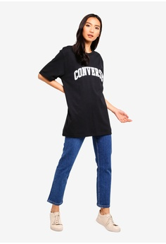 4fed8111231 13% OFF Converse Converse All Star Collegiate Text Short Sleeve Tee S   39.90 NOW S  34.90 Sizes S M