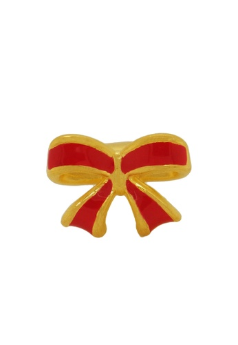 LITZ gold [Free Bracelet] LITZ 999 (24K) Gold Ribbon Charm EPC0712RED 55E31AC7C73A4DGS_1