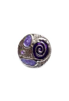 Clique Fashion Jewelry Big Ring Purple Swirl