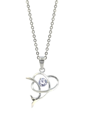 SC Tom Silver silver Dolphin Stone Pendant with Chain SC872AC16FJBPH_1