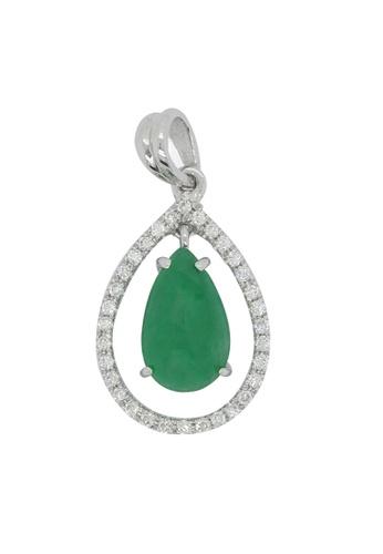 LITZ white and green LITZ (18K) Diamond Jade Pendant CE2ECACC87FCA6GS_1