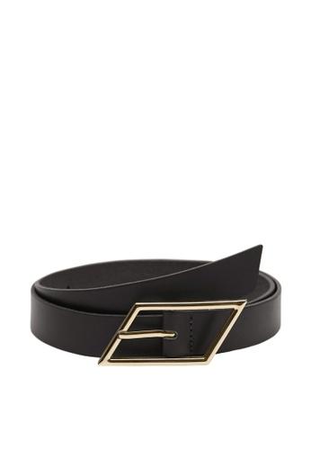 Mango black Buckle Leather Belt 35F7DACCB6245FGS_1