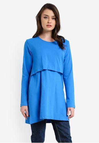 Aqeela Muslimah Wear blue Nursing Top AQ371AA0RT8ZMY_1