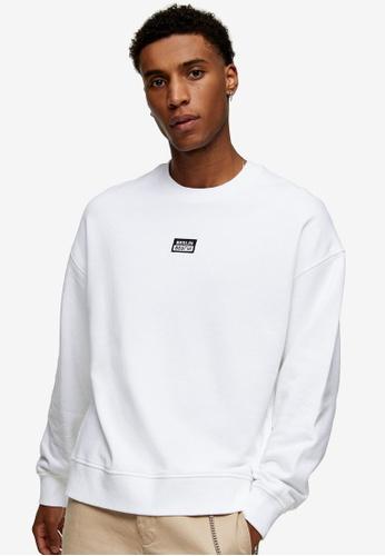 Topman white Berlin Sweatshirt B8D4FAAB00B4F7GS_1