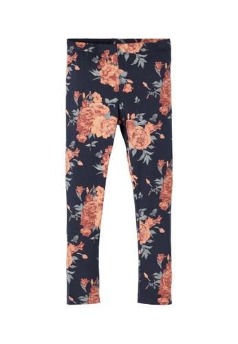 NAME IT navy Vivian Floral Printed Leggings 7AC13KA0DF48BAGS_1