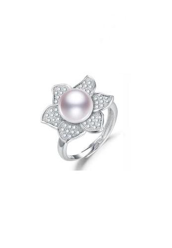 ADORA white Silver Pearl Adjustable Ring 1640FACA5003DEGS_1