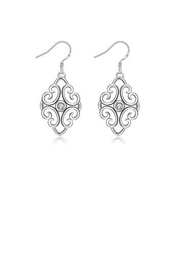 Glamorousky white Fashion Pattern Earrings with Austrian Element Crystal DD383AC0B2ED01GS_1