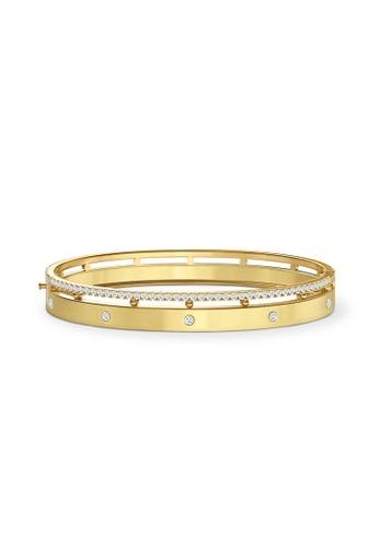 Aquae Jewels yellow Bangle Rich & Bold Diamond Band 18K Gold - Yellow Gold 3857EAC5918FE9GS_1