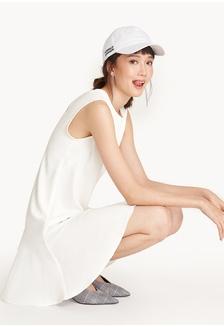 70ca1d5aa0b4 Mini Sleeveless Flounce Hem Dress - White 04A36AA9D09516GS 1