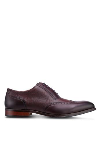 Dune London red Payne Formal Brogue Oxford Shoes A1BB3SH6B9B157GS_1