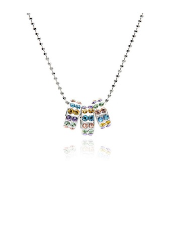 Glamorousky multi Round Moving Pendants with Multi-Color Austrian Element Crystals and Necklace 43E90ACF7805B9GS_1
