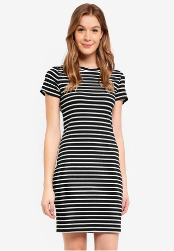 76566a73792 Dorothy Perkins black Petite Black Stripe Bodycon Dress 8D80CAA083C487GS 1