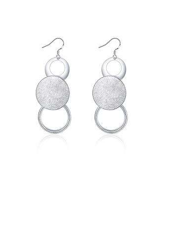 Glamorousky silver Simple Round Earrings 3F1DEAC224936DGS_1